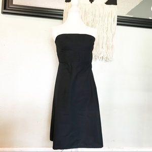 GAP black strapless cotton dress